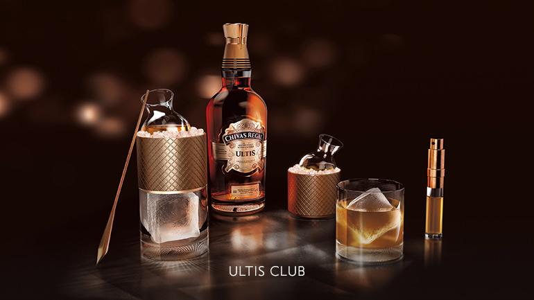 Květnatost Braeval vChivas Regal Ultis se umocňuje v Ultis Club, který dává vyniknout chutím medu a citrusů.