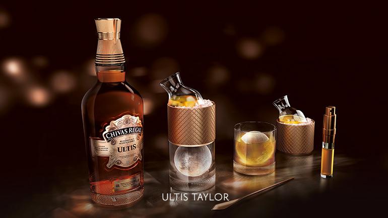 Rádi si dopřejete whisky strochou vzpruhy? Zkuste si namíchat Chivas Regal Ultis Taylor - slimetkou, čerstvou zázvorovou šťávou a bitterem.