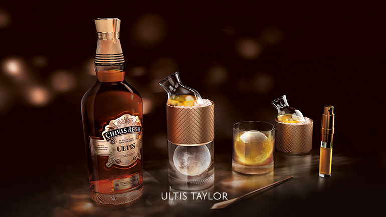 Magst Du deinen Whisky mit dem gewissen Extra? Probiere den Chivas Regal Ultis Taylor mit Bitter, Limette und frischem Ingwersaft.