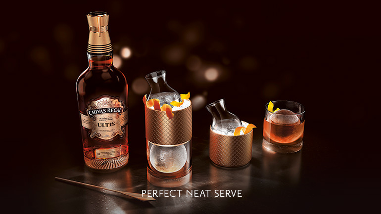 Serve Chivas Regal Ultis with an orange twist to amplify the clementine sweetness of the blend.