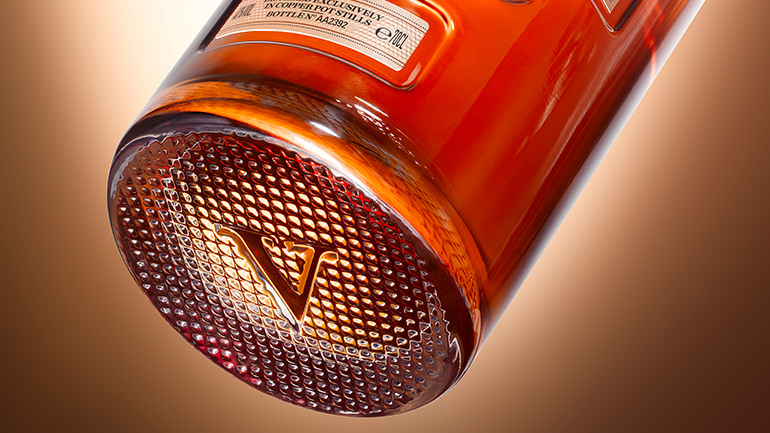 The V: in honour of the blending excellence of five generations of master blenders.