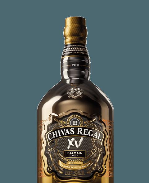 Chivas XV Balmain Gold Edition